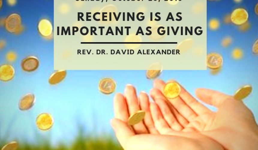 Receiving is as Important as Giving