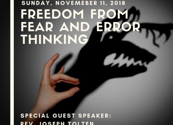 Freedom from Fear and Error Thinking