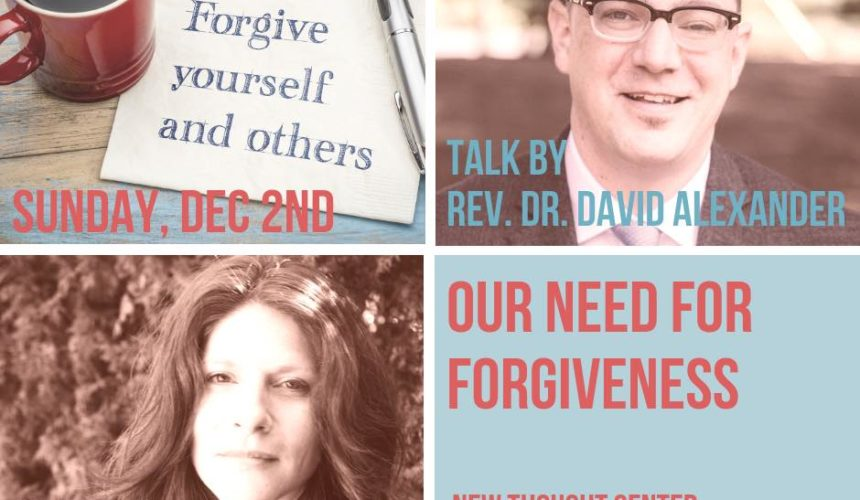 Our Need for Forgiveness
